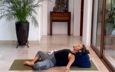 40min Gentle Yoga on your Back (English)