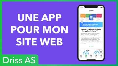 Une application pour remplacer mon site web
