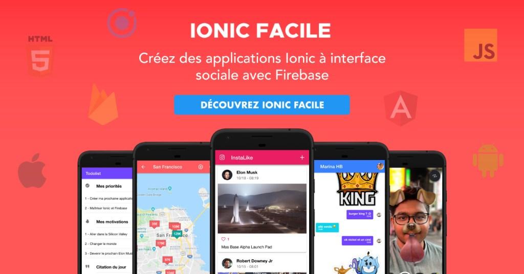 Créez des applications Ionic à interface sociale avec Firebase