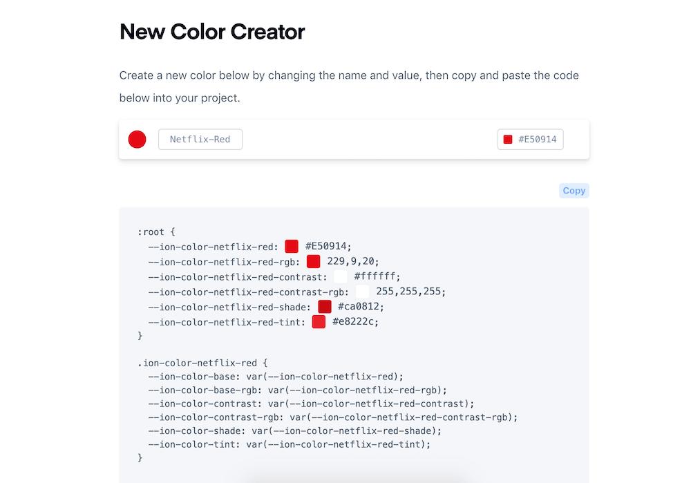 Comment ajouter une couleur dans Ionic ?