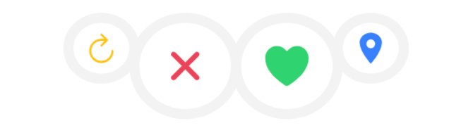 Ionic Tinder Swipe Buttons