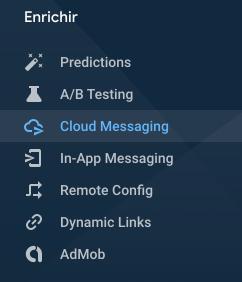 Ionic notification firebase cloud messaging FCM