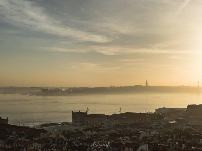 Atardecer sobre Lisboa