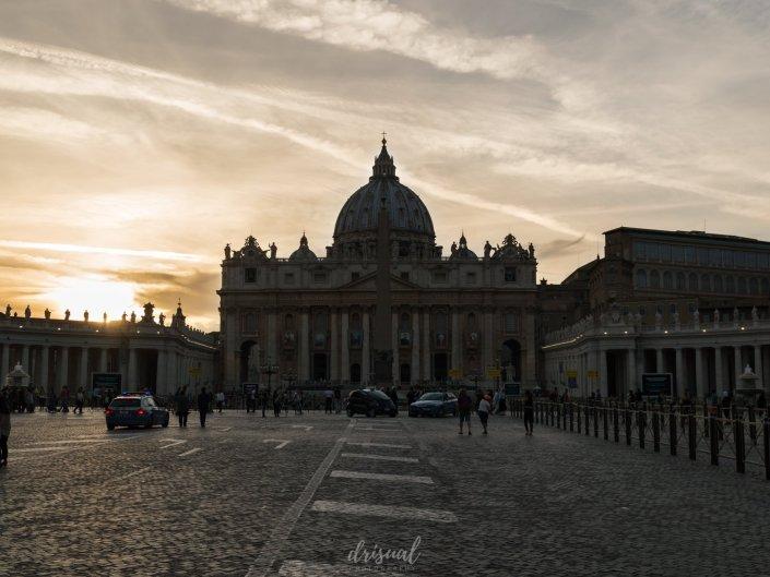 Atardecer sobre el Vaticano