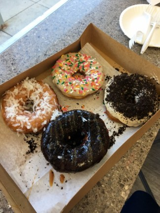 Four donuts for four friends