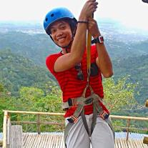 My fist zipline experience, in Cebu's first zipline camp.