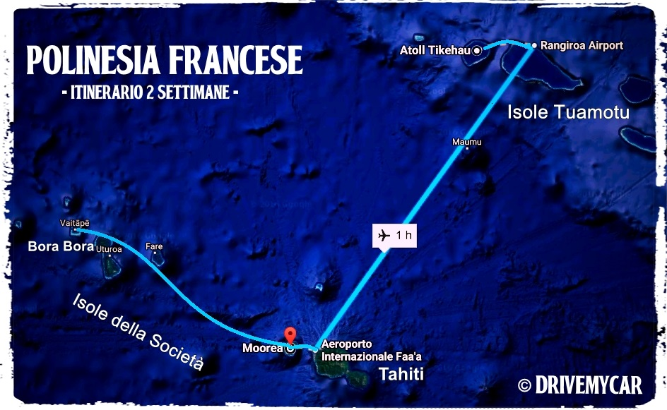 itinerario Polinesia