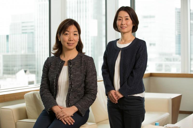 ACE代表岩附由香氏(左)と白木朋子氏(右)