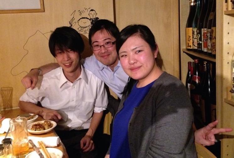 TFJで一緒に働いた事務局メンバー(鬼澤、阿久津さん、岡本さん)