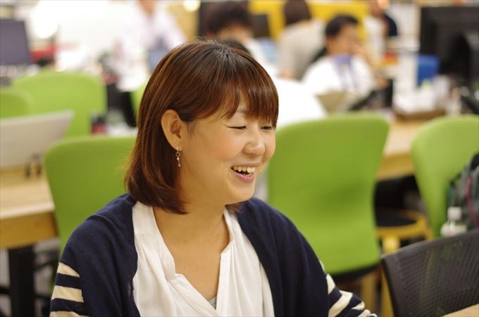 NPO法人ETIC.諸希恵さん。ETIC.のオフィスにて。