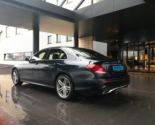 Mercedes E class sedan car limousine hotel amsterdam rear