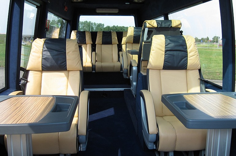 Mercedes Executive VIP Sprinter Amsterdam 10 seater interior