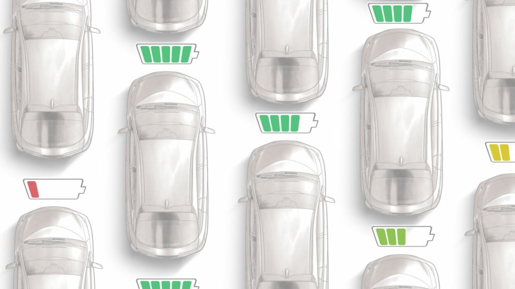 Electric car illustration by Mashable shared by Drive Electric Dayton