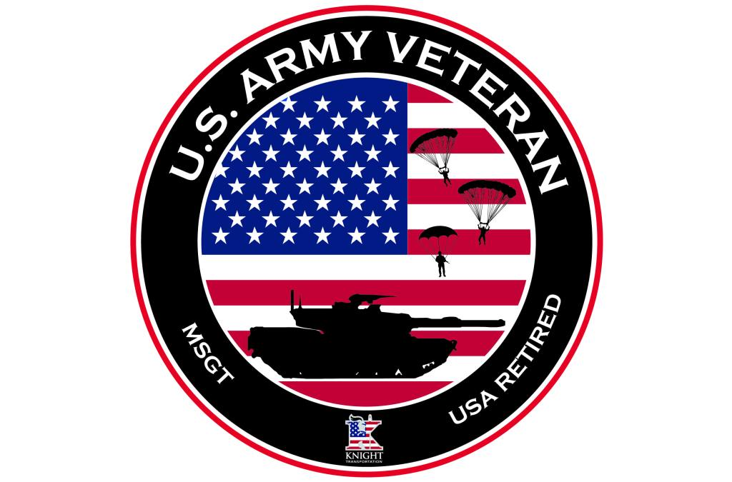 Army Veteran Circle Sticker without name