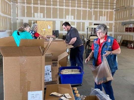 Blue Star Moms volunteering at Buckey, AZ terminal