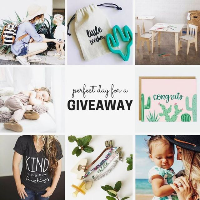GIVEAWAY!! Were working with some amazing shops and mom bloggershellip