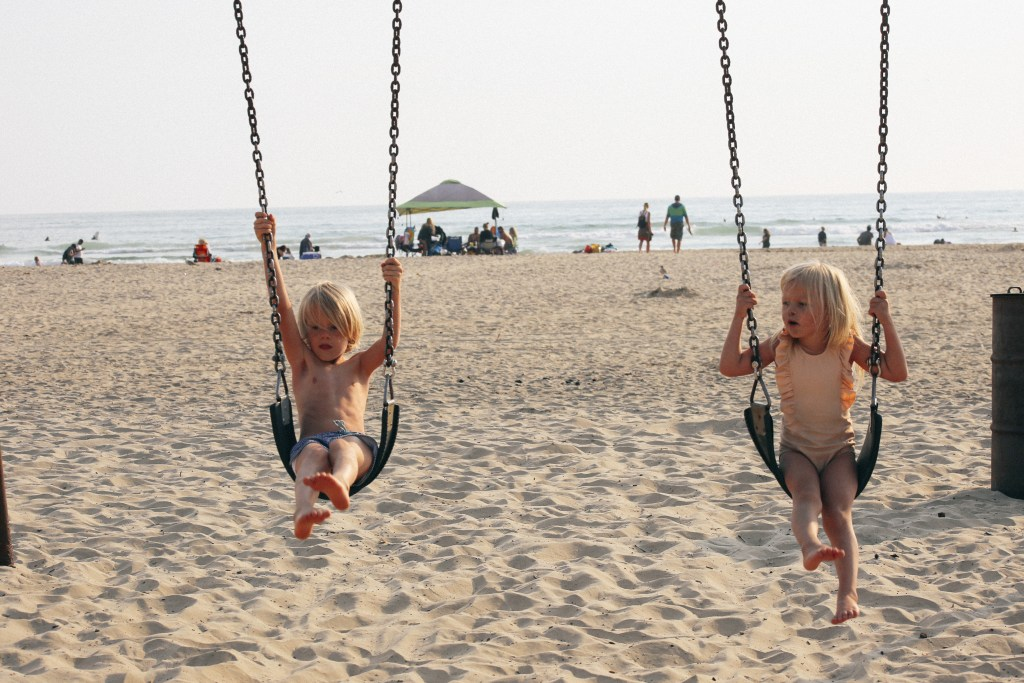 swings on the beach