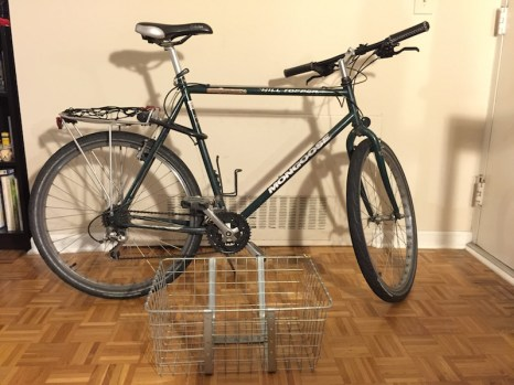 Vintage Mongoose bike includes Supersized basket to fit all your groceries, thin road tires for easy cruising