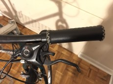 New Shimano Gear system and bad-ass, black-leather-stitched handle bars.