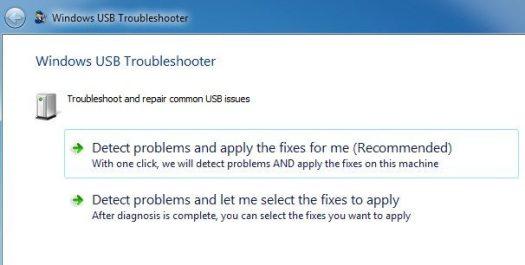Windows USB Troubleshooter