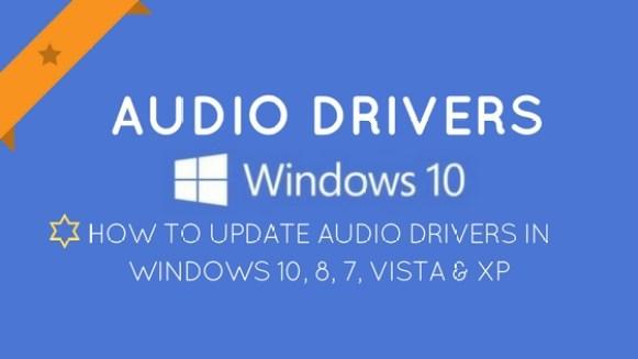 Update Audio Drivers Windows 10