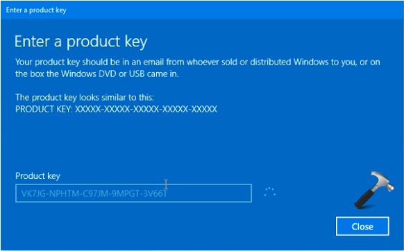 Windows 10 Product Key Activation Not Working