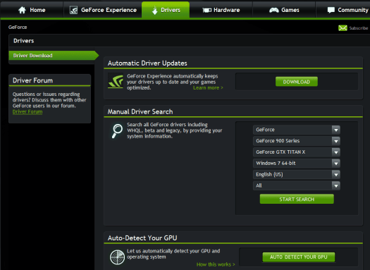 update nvidia geforce drivers windows 10