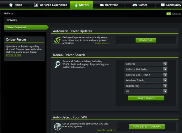 update nvidia geforce drivers windows 10