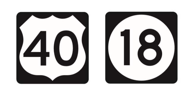 Know the basic shapes of road signs - U.S. route and State route