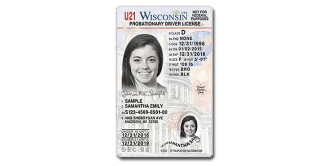 Wisconsin probitionary license