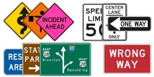 Basic colors US Road Signs - Learn this - Copyright: Xzelenz Media