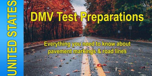 DMV Test Preparations - Road Markings & Lines