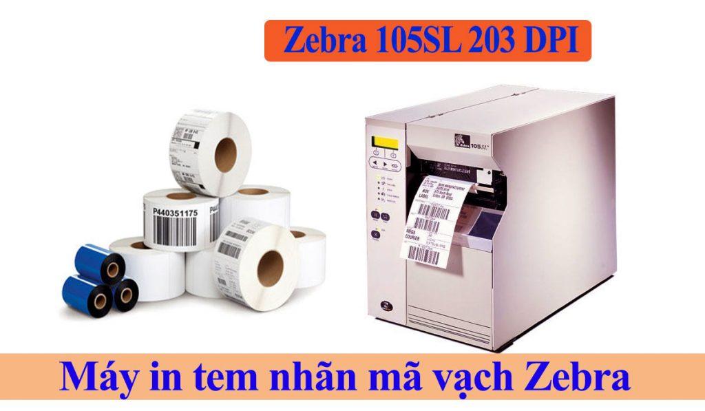 Máy in mã vạch Zebra 105SL 203 DPI