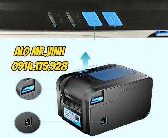 máy in mã vạch Xprinter XP-370B, may in tem xp370b gia re, máy in xprinter giá rẻ