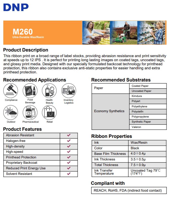 mực in DNP Wax Resin cho máy in Postek I300