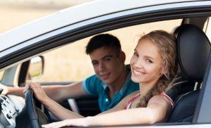 Teens in car