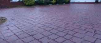 Imprinted Concrete red brick