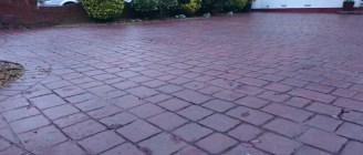 Imprinted Concrete red brick