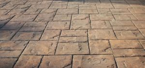 Modern Driveways Pattern Imprinted Concrete Ashlar Slate Pattern