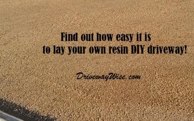 Resin Driveways Diy