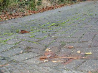 why has my block paving sank on my driveways