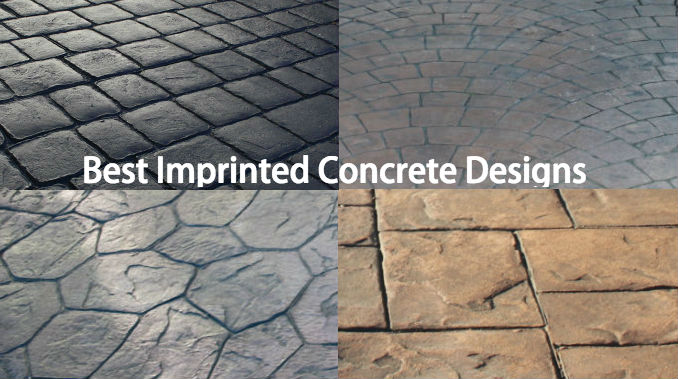 Best imprinted concrete paving design ideas