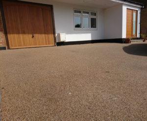 resin driveway overlay light sandstone