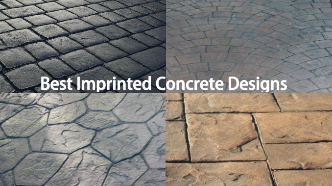 best imprinted concrete design