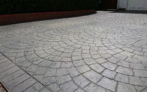 pattern imprinted concrete European Fan