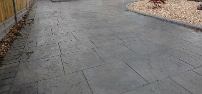 pattern imprinted concrete driveways bournemouth
