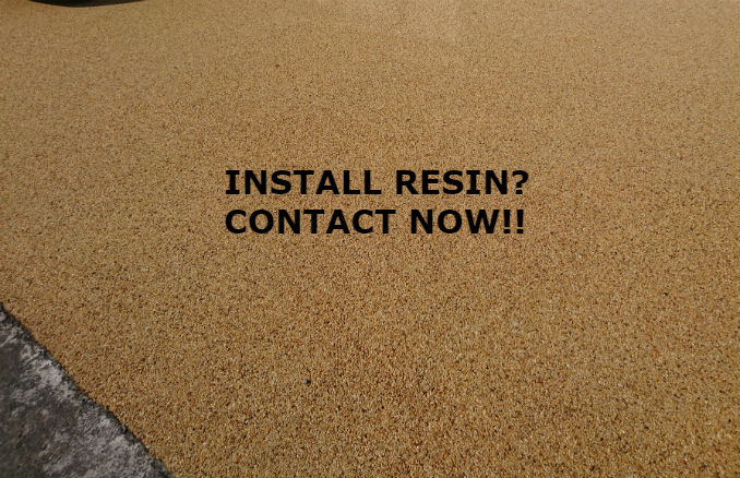 resin bound and resin bonded contractors