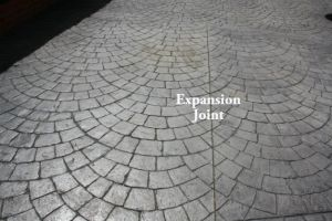 pattern imprinted concrete crack prevention
