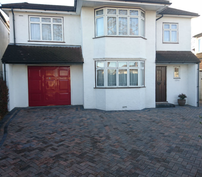 herringbone block paving bexley