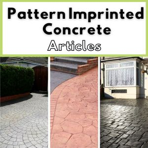 pattern imprinted concrete articles